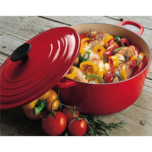 Cast Iron Enamel Round Dutch Oven