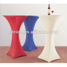 encantadora Lycra/elastano cocktail bar mesa/capa em tecido