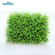 Outdoor Plastic Artificial Vertical Green Grass Wall Mat
