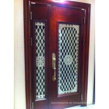2 piezas Elegante interior Exterior puerta del panel americano