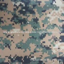 Digital military fabric, 65% polyester, 35% cotton, rib stop