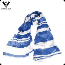 Lady′s Soft Hand Feel Stripe Print 100% Modal Scarf Wholesaler