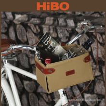 Accesorios de bicicleta al por mayor de lona encerada cesta de bicicleta extraíble