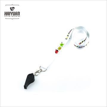 Promocional personalizado diseño correa de cuello deportivo cordón con silbato