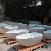 Высокое качество freestanding ванна,рукотворная каменная ванна,горячая плавать бассейн по акции 5% скидка