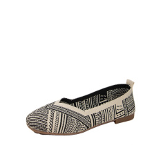 clsaaic retro pattern casual woman shoes canvas breathable shoes
