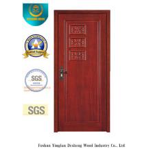 Puerta estilo simple MDF con talla para la habitación (xcl-843)
