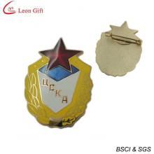 Distintivo de polícia ouro esmalte duro para lembrança (LM1756)