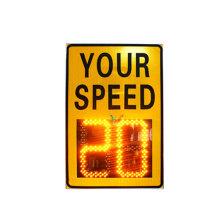 señal de velocidad de radar LED ámbar de seguridad vial