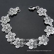 Atacado Jóias bonito flor pulseira de prata esterlina para Lady BSS-033