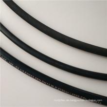 Faser umsponnener hydraulischer Gummischlauch SAE100 R6 für Öl