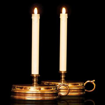 set of 2 luminara Flame LED Taper Candles