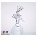 Danseur de verre fabriqué à la main pour cadeau de mariage / décoration
