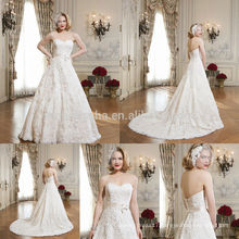 Alibaba Ball Gown Wedding Dress With Sweetheart Neckline Made In China 2014 Long Lace Bridal Gown With Sash Accent NB0658