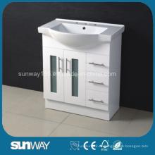 Australia Vanidad del cuarto de baño del estilo con el lavabo de cerámica redondo (SW-M900RG)