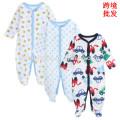 Monos bebé de algodón suave de la fuente de la fábrica de manga larga bebé cómodo traje de invierno para niños