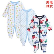 Fornecimento de fábrica macacão de algodão macio de algodão manga comprida confortável inverno bebê jumpsuit para meninos