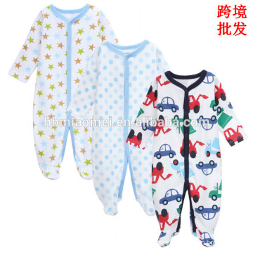 Factory supply soft cotton baby rompers long sleeve comfortable winter baby jumpsuit for boys