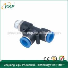 ESP pneumático one-touch plástico macho run tee acessórios mini mangueira acessórios