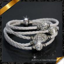 Pulsera blanca, filas pulseras magnéticas, joyería de moda (fb082)