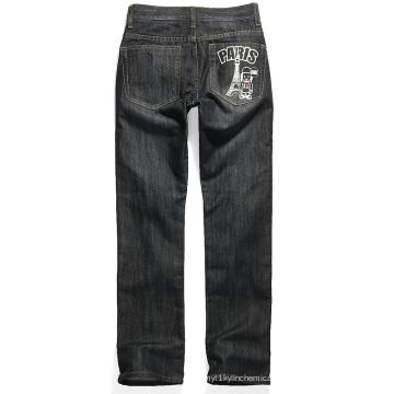 Stone Wash Jeans Elastic White Paste