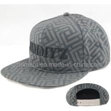 Leisure Flat Bill Print Broderie Snapback Hat Cap (TMFL6393)