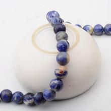 14 MM suelto natural piedra Sodalita granos redondos para hacer joyería