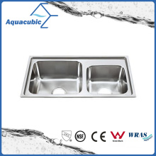 Above Counter Stainless Steel Moduled Kitchen Sink (ACS-7239)