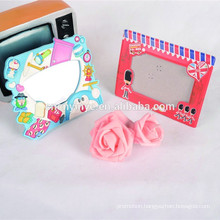 promotional Beautiful soft pvc OEM soft pvc sexy girl photo frame