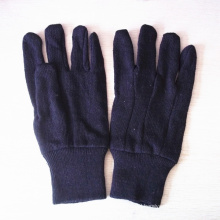 Brown Jersy Poly Cotton Work Gloves with Knit Wrist