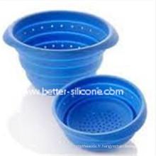 Filtre en plastique pliable en silicone avec poignée