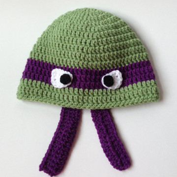 Ninja Turtle Hat Pure Handmade Crochet Hat