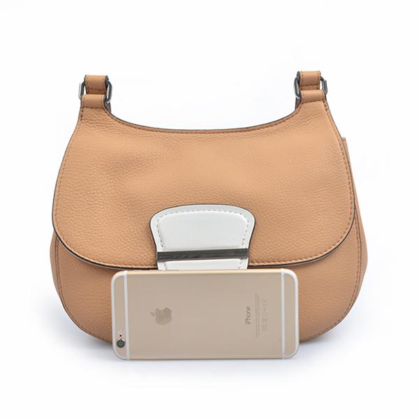 newest 2019 fashion hot saddle bag leather wild semi-circle shoulder small bag