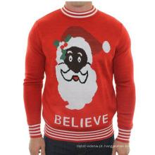 15STC8907 suéter de Natal acrílico feio