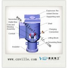 Transformateur de tension isolé au gaz Gis