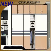 Современный дизайн деревянного гардероба с 2 раздвижными дверьми