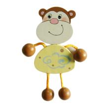 FQ marca criativa promocional macaco bonito animal madeira imã de geladeira