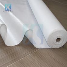 Tissu en coton laminé auto-adhésif blanc non tissé