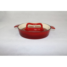 Enameled Dish And Press for meat