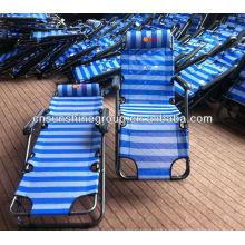Tecido de praia espreguiçadeira multi-funcional cadeira de dobramento