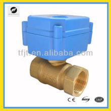 Válvula de bola eléctrica miniatura para control automático, HVAC, calefacción solar