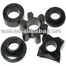Custom molded rubber wheel