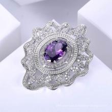 Broches modernos de la moda del diamante del diseño para las mujeres