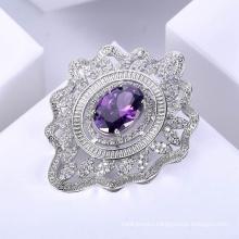 latest design diamond modern fashion brooches for women