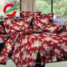 gran flor diseño 3d dispersa tela para sábana