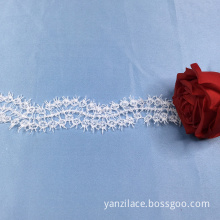 White Floral Flat Crochet Lace Trim