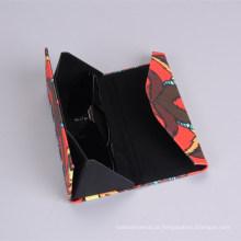 Caso de couro falso de óculos de sol populares de Design clássico preto