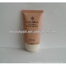 plastic squeeze flat BB cream tube with plastic cap