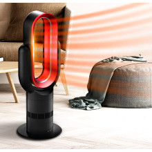 Liangshifu 10 pulgadas moderna mesa eléctrica portátil de aire del calentador de espacio del ventilador con infrarrojos 5 metros de control remoto 2100 vatios