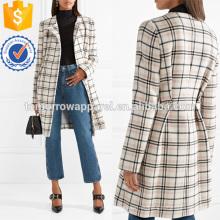 Fabricación de la chaqueta de la mezcla de la lana de la tela escocesa al por mayor Ropa de las mujeres de la moda (TA3024C)